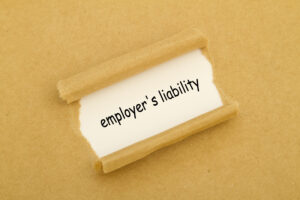 Employers Liability Written On Paper