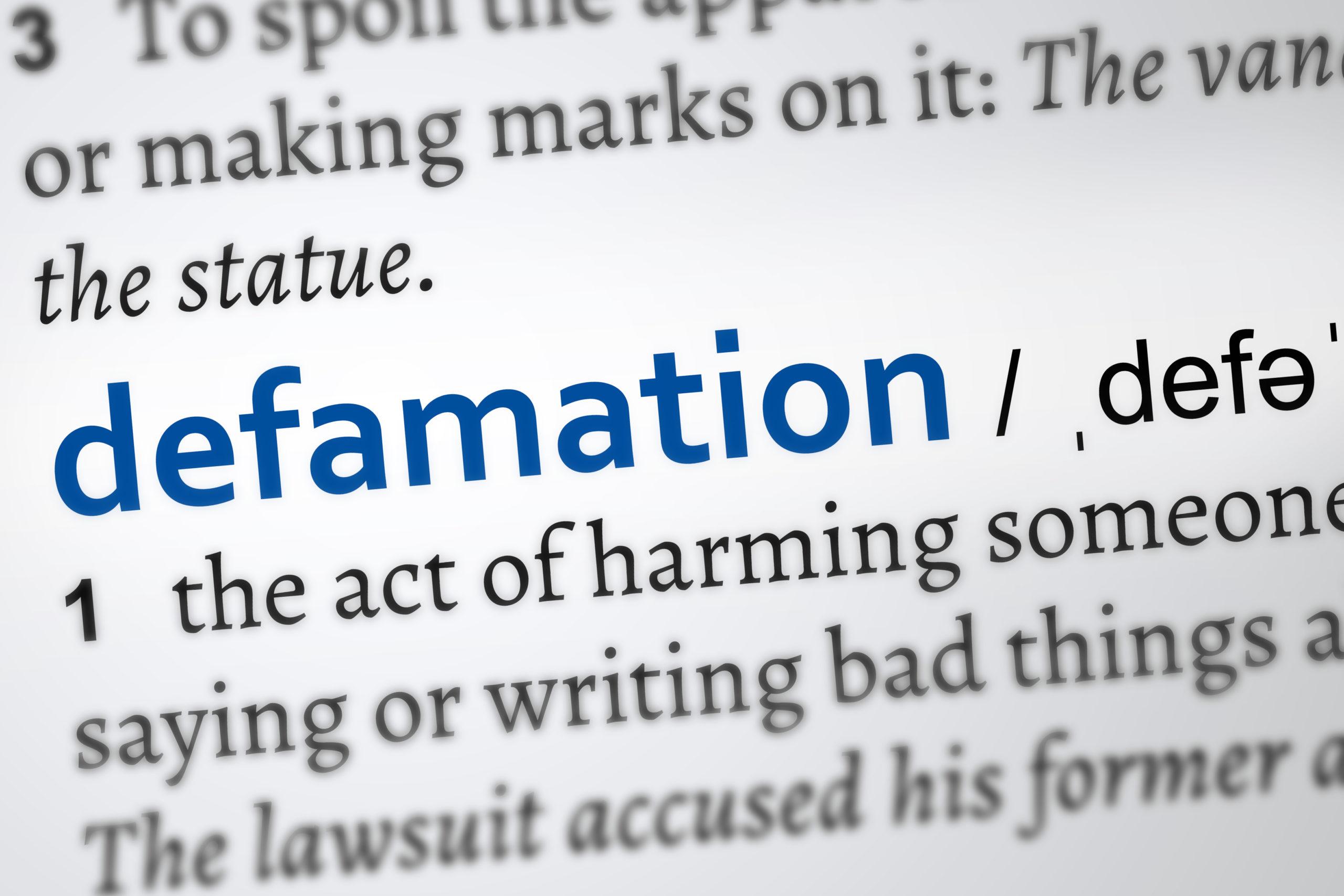 Defamation Definition Word