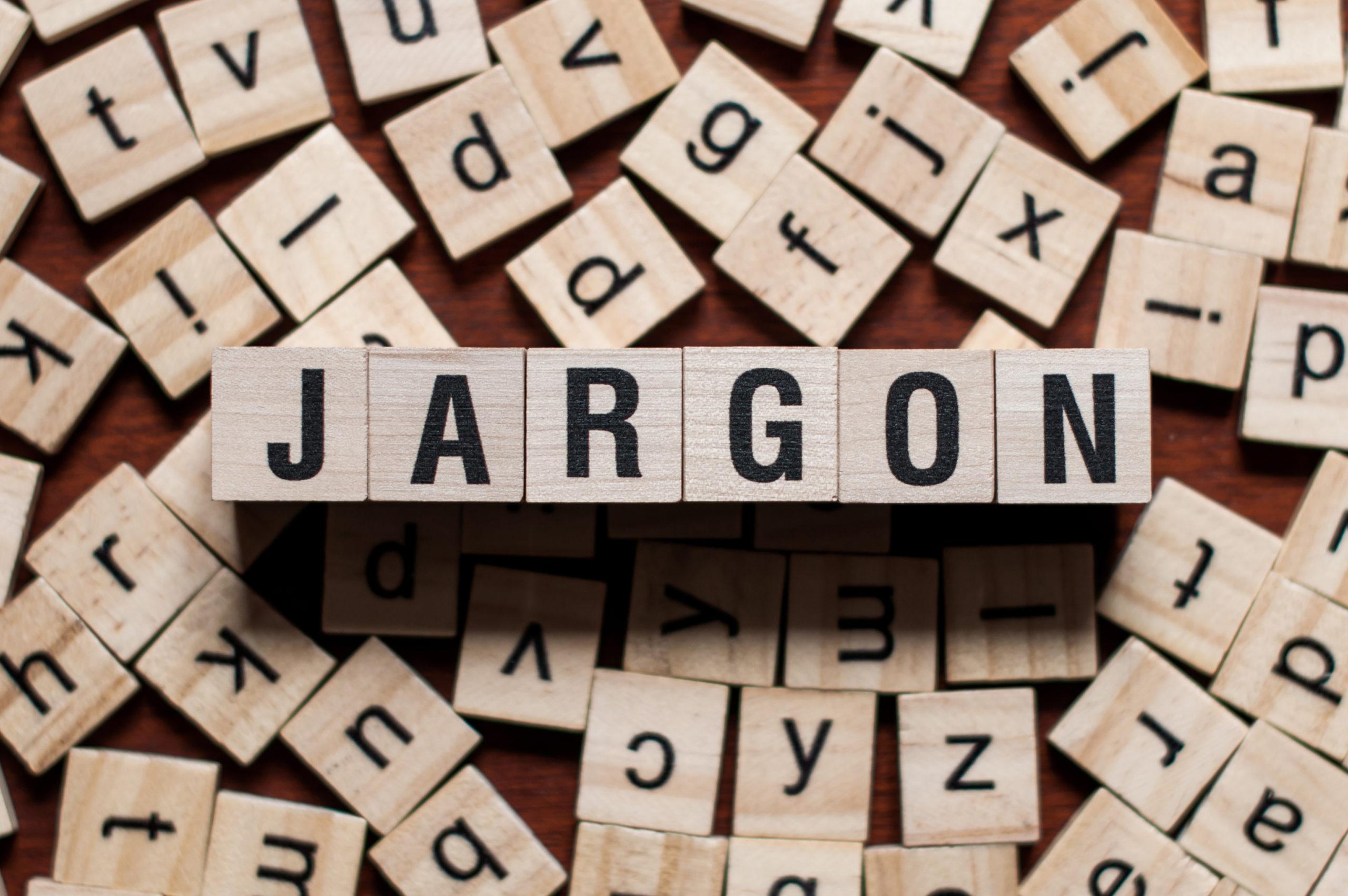 Jargon Word Written On Wood