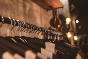 Clothes Hung On Rail