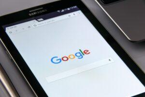 Samsung Tablet Displaying Google