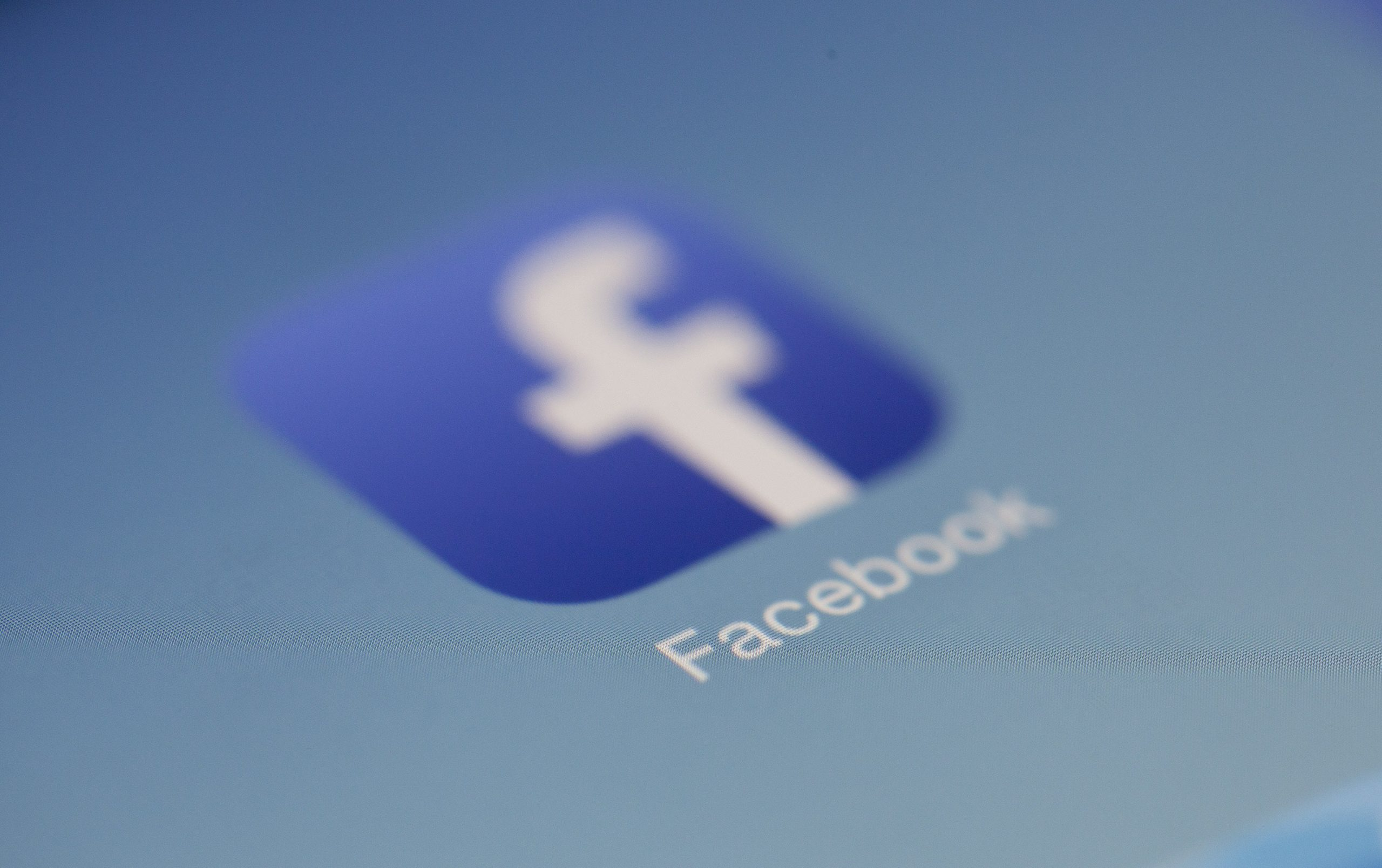 Blurred Photo Of Facebook Icon