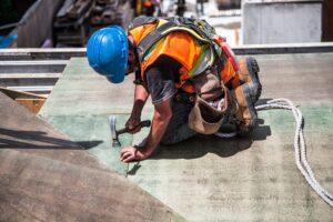 Builder On Construction Site