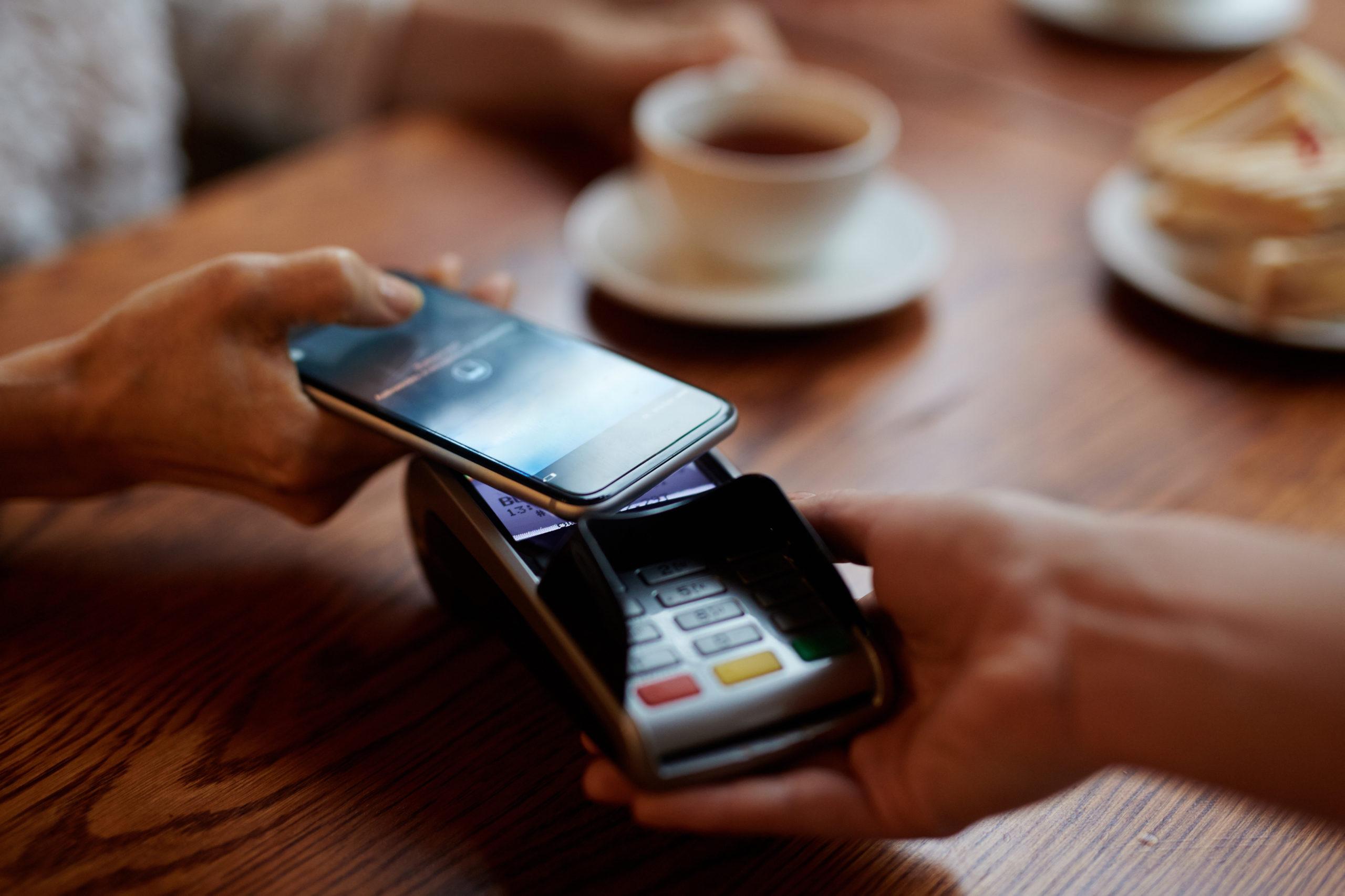 Customer Making Payment Via Mobile
