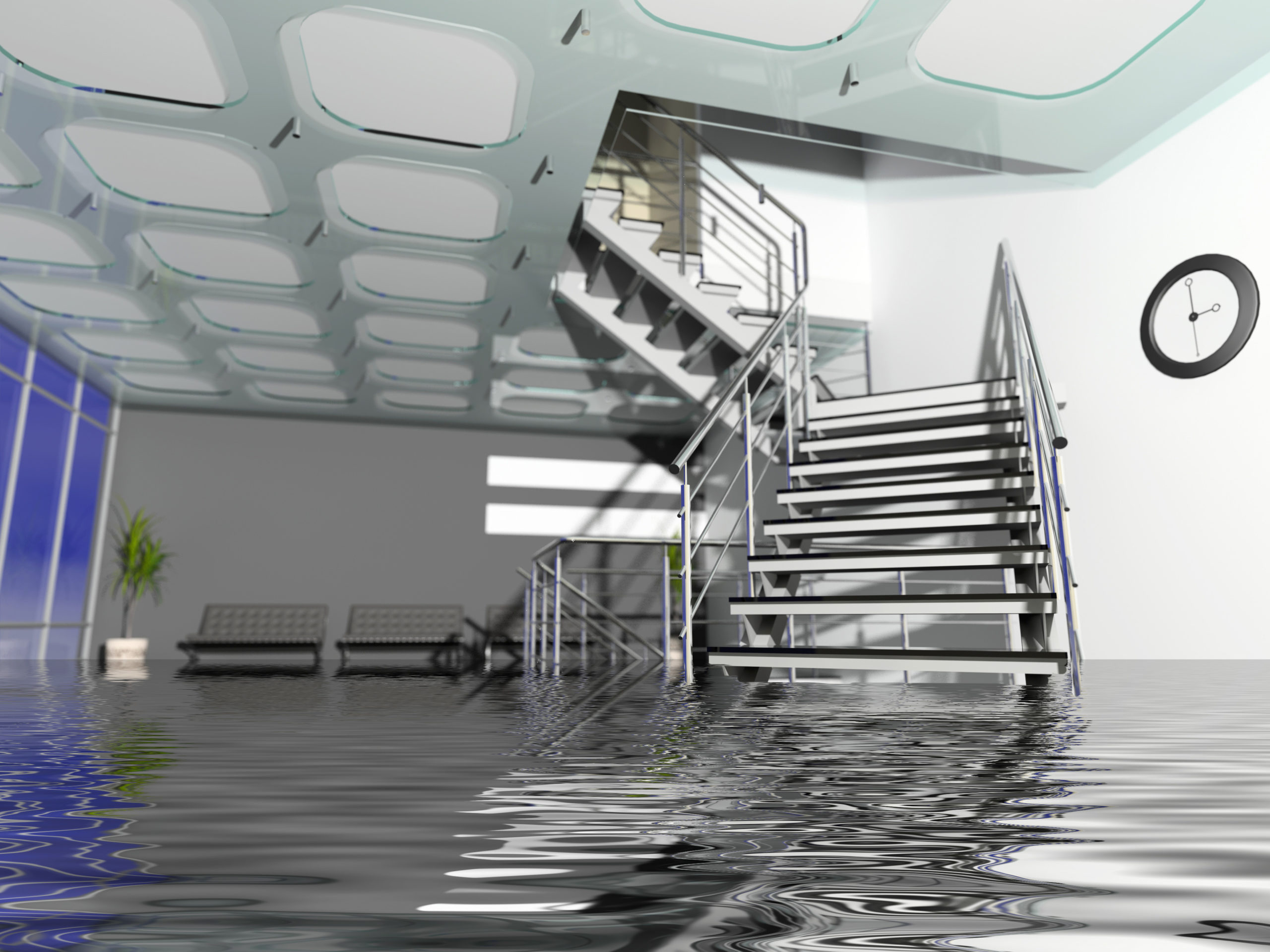 Flooded Office Hall