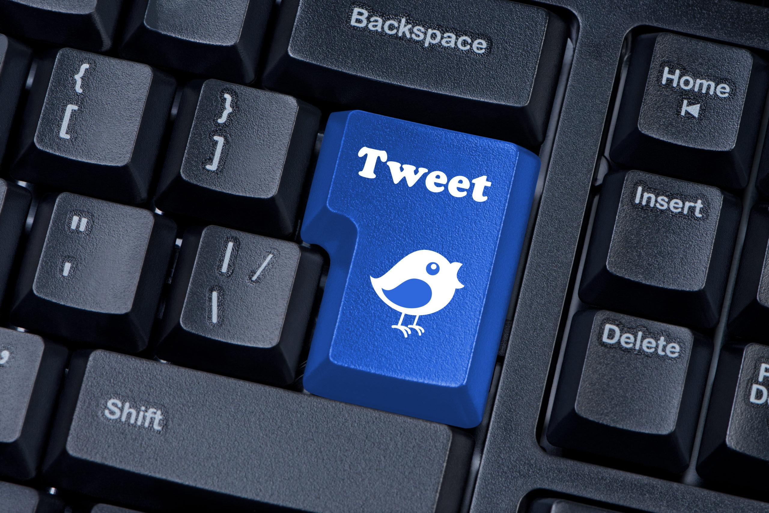 Keypad With Tweet Button