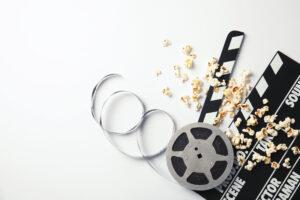 Movie Concept With Popcorn