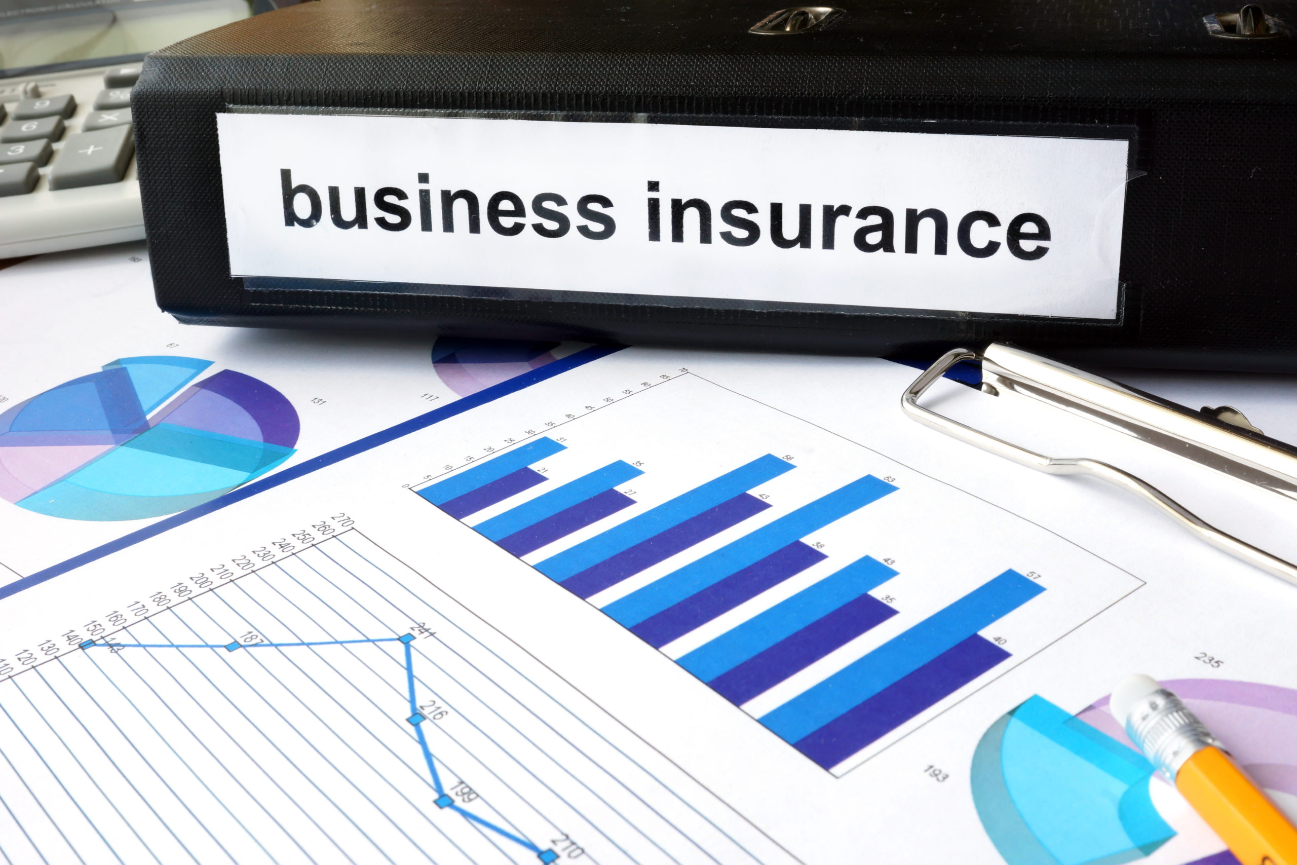 Folder With Business Insurance Label