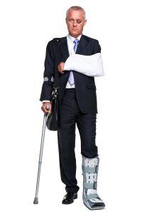 Badly Injured Businessman