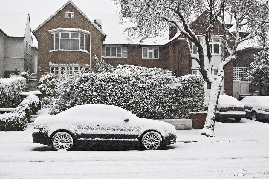 Street In London In Snow