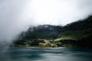 Clouded Mountains And Valley