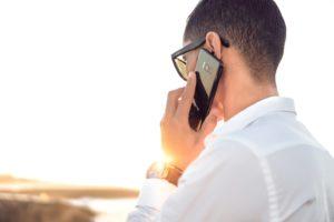 Male Conducting Telephone Call