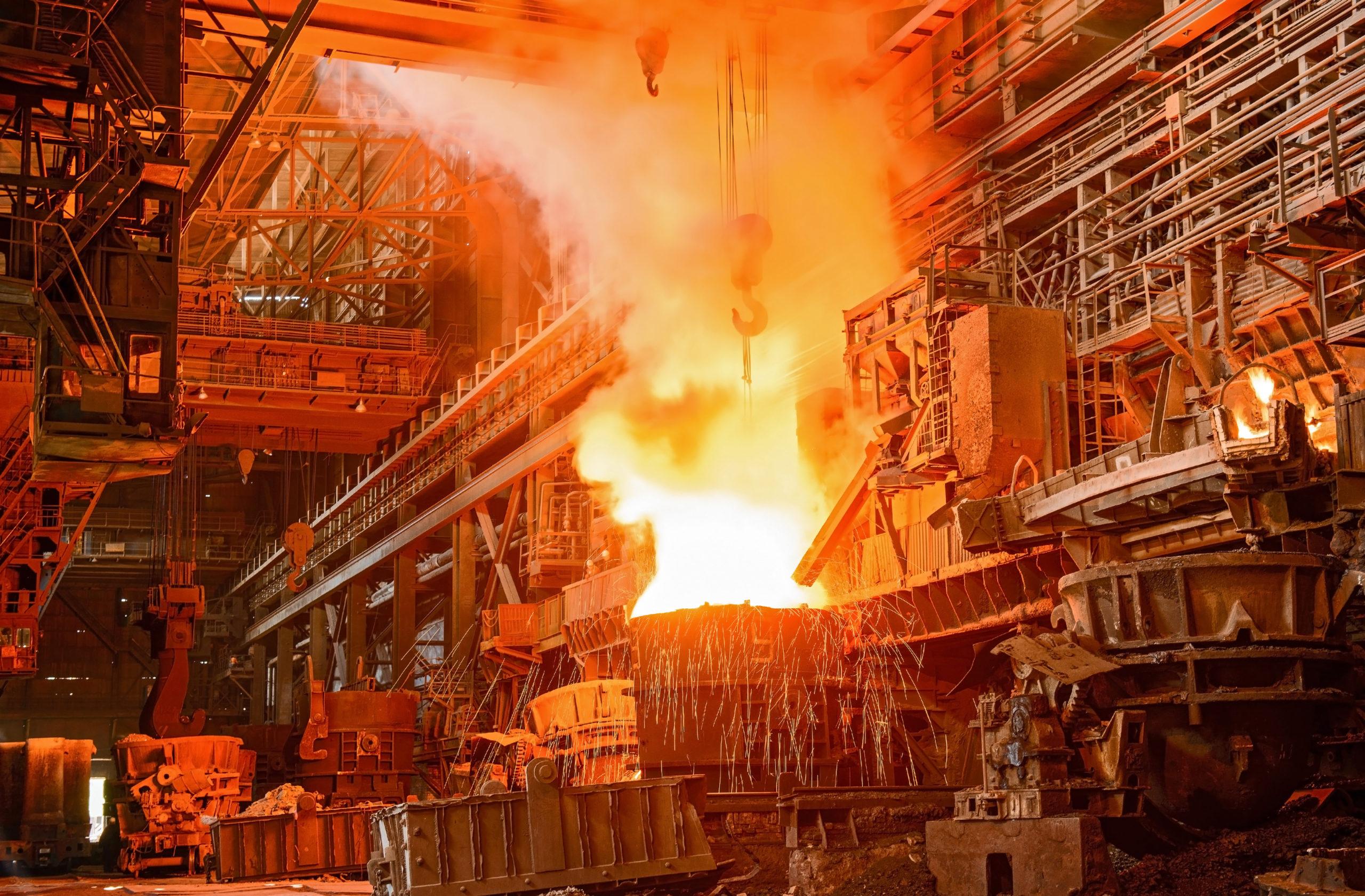 Steel Plant On Fire