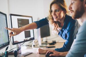 Web Developers Working On Website
