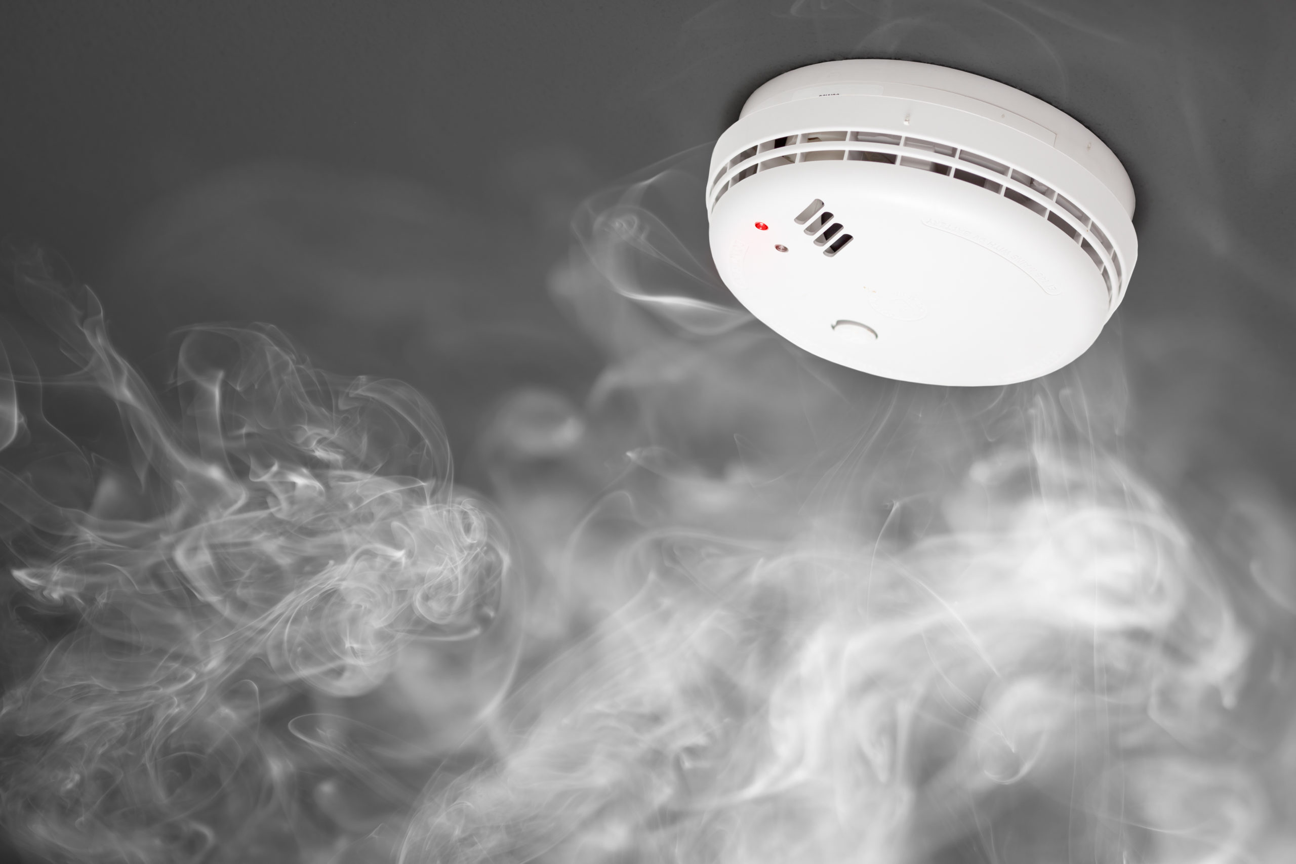 Fire Alarm System Detecting Smoke