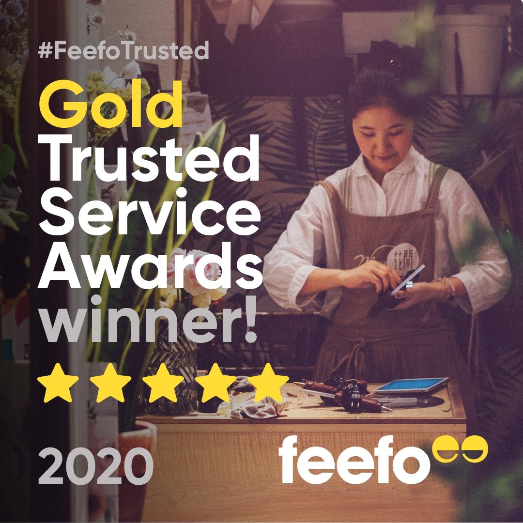 Feefo Gold Service Award 2020