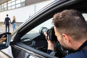 Private Investigator Capturing Image