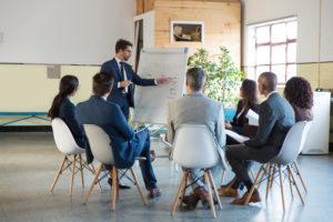 Management Consultant Providing Training